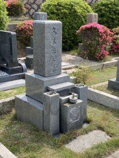 芦屋市霊園で文字の彫刻をさせていただきました(赤澤様)