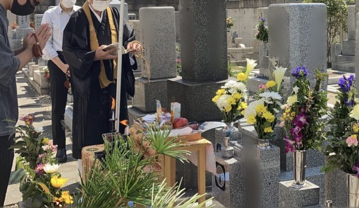 大宮霊園(旭区)のお墓の開眼式